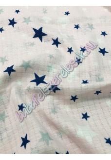 Textil pelenka - fehér-barack csillagos
