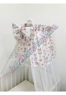 Fehér balerina nyuszis baldachin