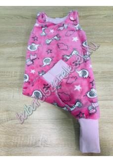 Kamáslis rózsaszín elefántos tipegő hálózsák
