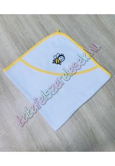 Kapucnis frottír babakifogó - méhecskés
