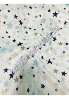 Textil pelenka - kék-fehér csillagos
