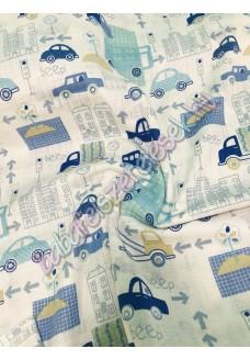 Textil pelenka - királykék autós