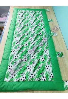 Kombinált falvédő - zöld goal focis