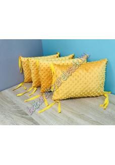 Mustársárga Minky-s párnás rácsvédő