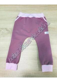 Melegítő nadrág - padlizsán-világos rózsaszín