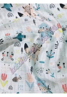 Textil pelenka - pasztell állatos