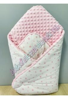 Pihe-puha pólya - fehér-rózsaszín csillagos