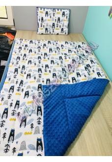 kék hódos prémium ágynemű