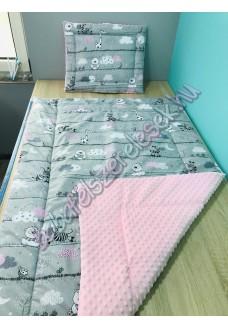 Rózsaszín zebrás prémium ágynemű