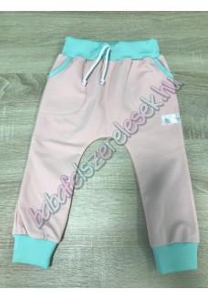 Melegítő nadrág - púder-menta