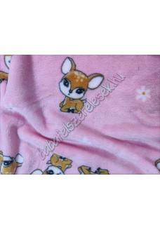 Rózsaszín bambis - pihe-puha pléd