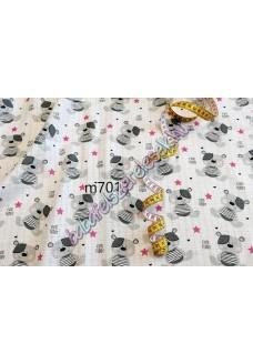 Textil pelenka - rózsaszín macis