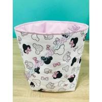 Rózsaszín minnie fejes textil tárolók