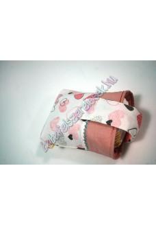 Rózsaszín szives csatos pelenkatároló