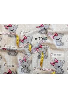 Textil pelenka - rózsaszín-szürke girl