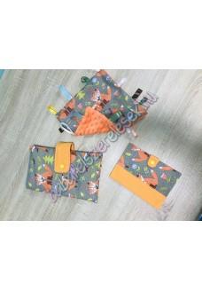 Szürke-narancssárga rókás babaváró csomag