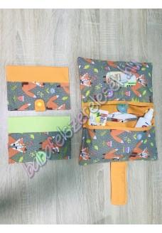 Pelenkázó neszeszer - szürke-narancssárga rókás