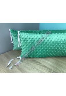 Zöld Minky-s párnás rácsvédő